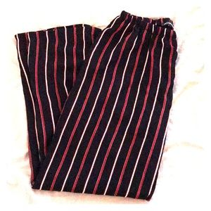Brandy Melville Red/Blue Striped Pants
